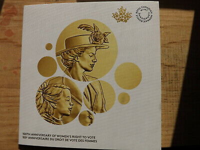 2016 Canada 100th Anniversary Women's right to vote display card with Coin