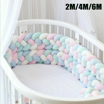 Plush Long Baby Bedding Nursery Cot Bed Pillow All Round Crib Cushion Protect