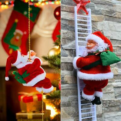 Christmas Tree Decor Electric Climbing Ladder Santa Claus Figurine Xmas Ornament