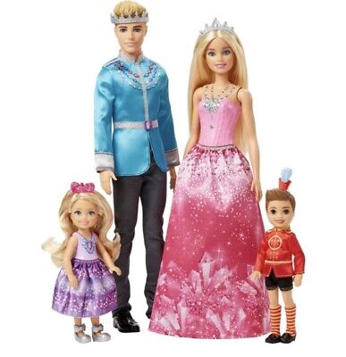 Barbie Dreamtopia 4 Doll Giftset Princess And Prince Girl Boy Playset Kids Toy