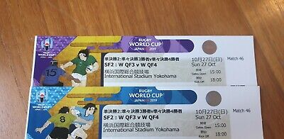 Two tickets to the Rugby World Cup Final, & Semi Final, CAT B