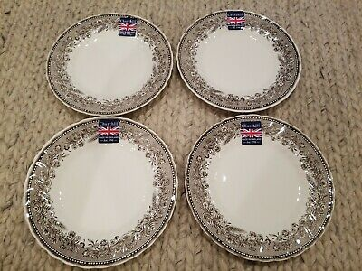 ROYAL WESSEX by Churchill Wheat Fields Border Appetizer Plates Dishes Set of 4