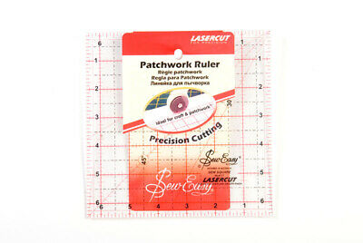 Sew Easy NL4177 Acrylic Quilting Ruler 6½ square Sewing/Patchwork/Papercraft