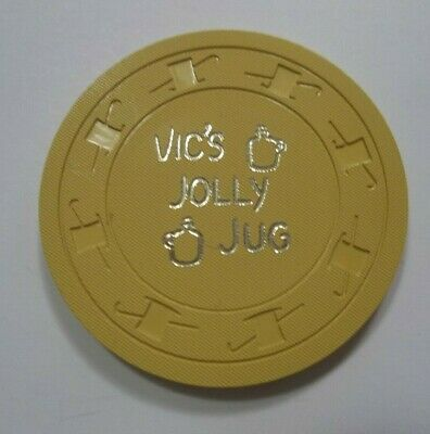 Vic's Jolly Jug 10 cent Casino Chip Henderson Nv
