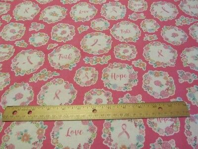 Pink Words Of Encouragement Breast Cancer Awareness Cotton