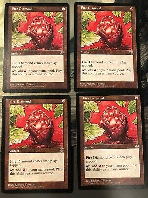 1x Fire Diamond Mirage LP//MP Magic The Gathering MTG