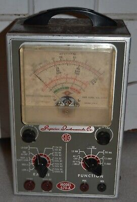 Vintage SICO Superior Instruments Co. OHMS Tester Model 670-A