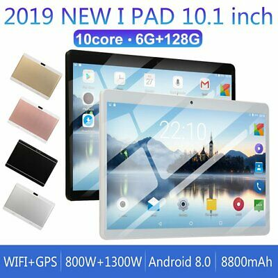 10.1 WIFI Tablet Android 8.0 10 Deca Core Dual SIM 6+128G Phablet Pad Dual Card