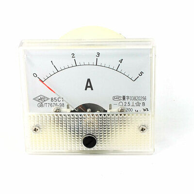 85C1 Model Dial Panel Analog Ampere Meter DC 0-5A