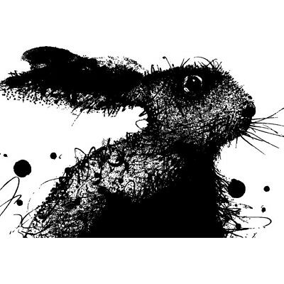 Azeeda A7 Sitting Hare Unmounted Rubber Stamp RS00011149