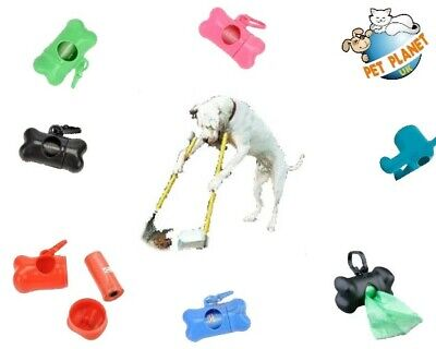 Dog Poop Waste Bag Holder Dispenser With Lead Attachement Clip Dog Poo Bags