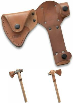 Tomahawk Sheath Axe Head Cover Full Grained Leather for CRKT Woods Chogan T-Hawk