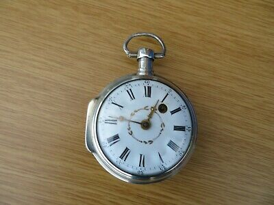 early verge fusee pocket watch solid silver date 1750