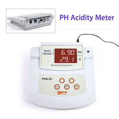 Benchtop High Accuracy Acidity & Thermometer Meter Tester 0.00~14.00pH For Lab