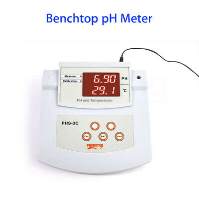 Benchtop Thermometer PH Meter Tool Automatic Calibration For Water Purification