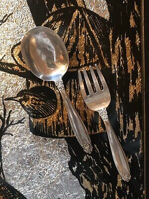 C.1939 Prelude International STERLING SILVER 2 piece Child BABY Spoon Fork SET