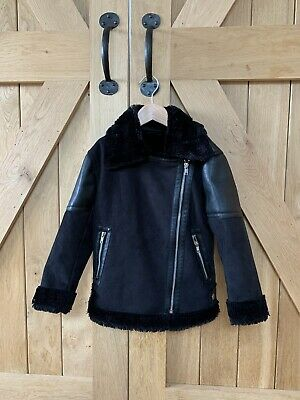 Girls Next Black Jacket Age 6