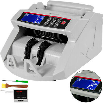 Money Counter Machine Bill Cash Counting Counterfeit Detector UV MG MT IR DD