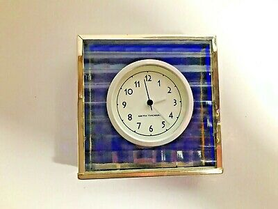 Vintage Retro Seth Thomas Battery Blue Glass Tile VERY COOL!!!! Classy