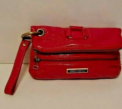 Original Jimmy Choo Damen Tasche Clutch Handtasche echtes  Leder, Lackleder TOP!