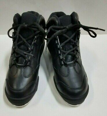 Capezio DS07 Adult Size 5M Black Leather High Top Tap Dance Sneakers Tap Shoes