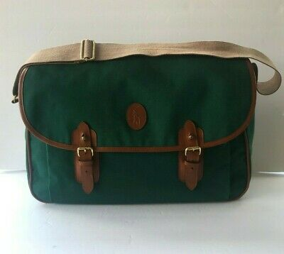 Vintage Ralph Lauren Luggage Shoulder Bag Crossbody Carry On Durable Fabric