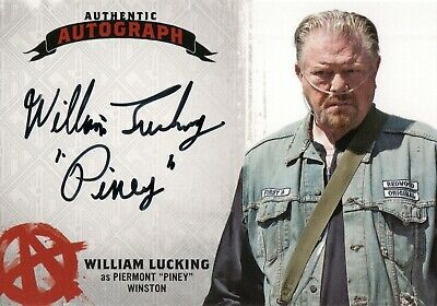 William Lucking Piney Sons Of Anarchy SIGNED AUTOGRAPHED FRAMED 10x8 REPRO PHOTO
