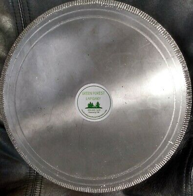"Green Forest 10"" 250mm Notched Diamond Saw Blade Lapidary Rock saw for Agate"