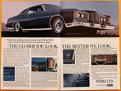1974 FORD LTD BROUGHAM { CHARLEROI PA } ADVERTISING POSTCARD NOS