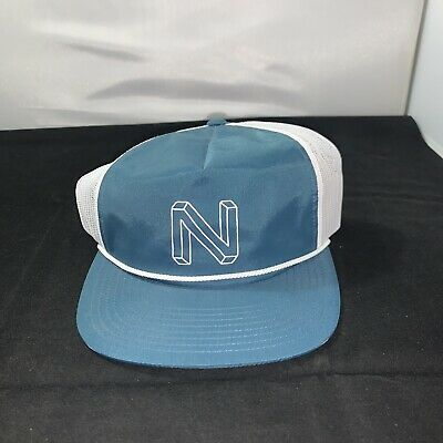 New Nixon Deep Down Flex FIt Fitted  Hat Denim indigo 6 7//8-7 1//4  210 Fitted