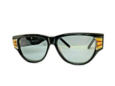 Obblo Sunglasses Woman Vintage Made in Italy Ages 80'S Black Glitter