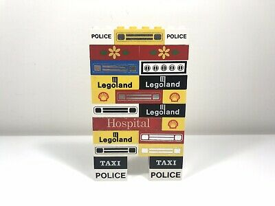 LEGO Bulk Lot Vintage Printed And Stickered Parts Legoland Classic Town