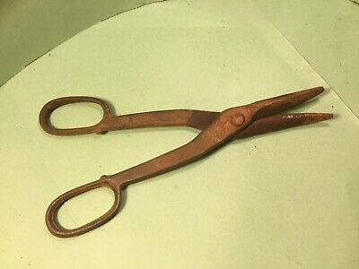 Tin snips,Vintage sizers type,stamped 12 forged steel,tool collectors original