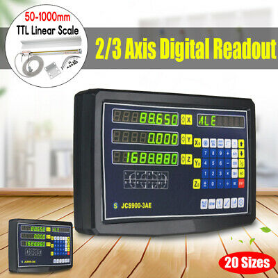 2/3 Axis Digital Readout Linear Scale DRO Display CNC Milling Lathe Encoder   !