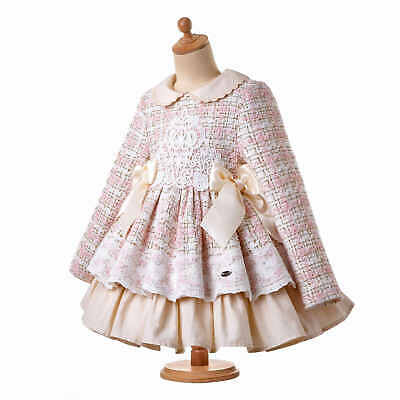 Toddler Girls Winter Tweed Dress Pleated Princess Christmas Party Pageant Prom