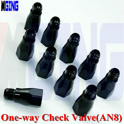 8 AN Male Inline One Way Check Valve PRE889008BLK