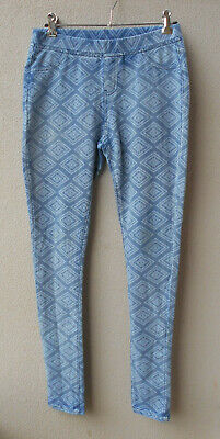 Seed Teen Faded/Distressed Blue Jeggings Stretch Pull On Elastic Waist - Sz 8