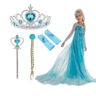 Costumes Girls Elsa Anna Christmas Party Dress Party Frozen Cosplay Kids Clothes