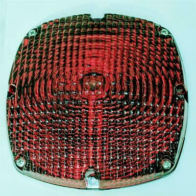 Signal Stat 6500 CE 650 ST Red Square 7 Inch Replacement Lamp Lens for Bus Light