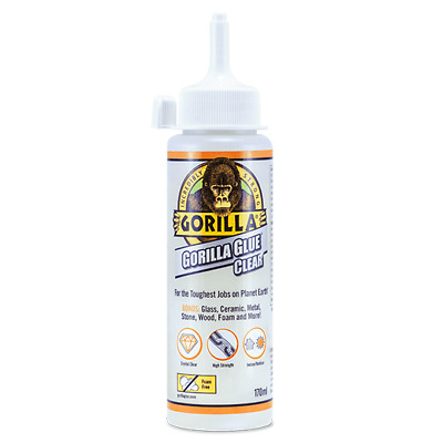 GORILLA GLUE CLEAR 170ML | Incredibly Strong Adhesive | Industry Trusted Tough