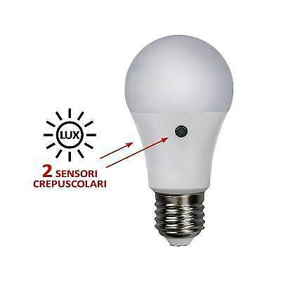 Classica Led 230V 9,5W 800Lm 3000K + Crepuscolare Alcapower 929850
