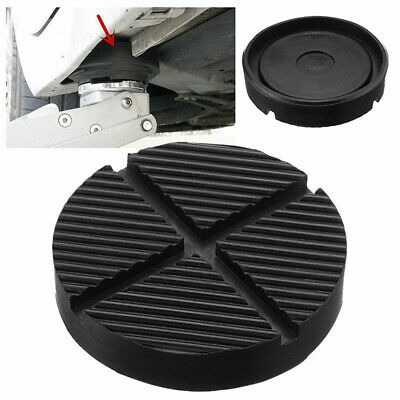Universal Car Slotted Frame Rail Floor Jack Adapter Lift Rubber Pad Stand Holder