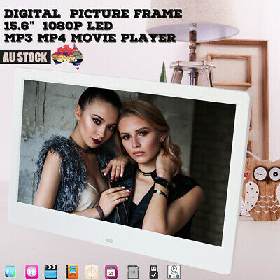 "15.6"" Digital Photo Frames HD LED Picture Frame Day Clock Mp4 Movie video Player"