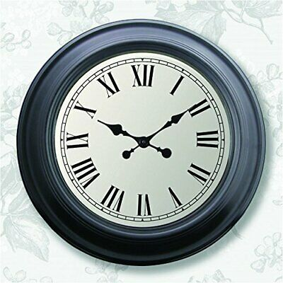 Extra Large Over Sized Vintage Style Wall Clock In Black