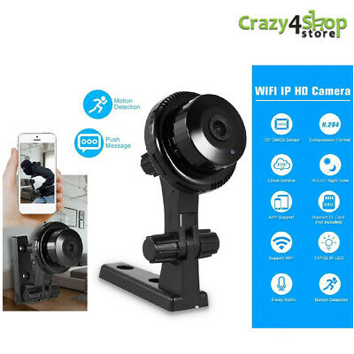 WiFi Wireless Mini cam Telecamera Nascosta IP Indoor/Outdoor HD sicurezza Baby