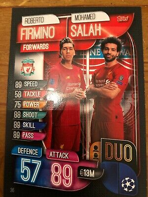 Match Attax 2019/20 Duo Mohamed Salah And Firmino