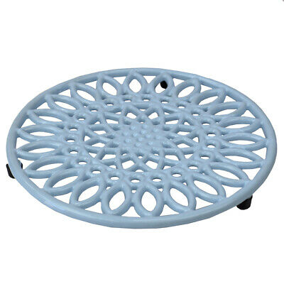 Sunflower Heavy-Duty Cast-Iron Trivet Serving Hot Dish Pot Pans BLUE EBY63250