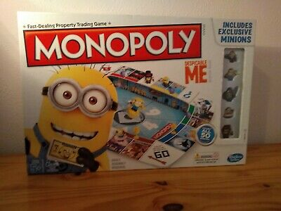 Despicable Me Minions Monopoly Board Game Hasbro Official Toy Family Fun