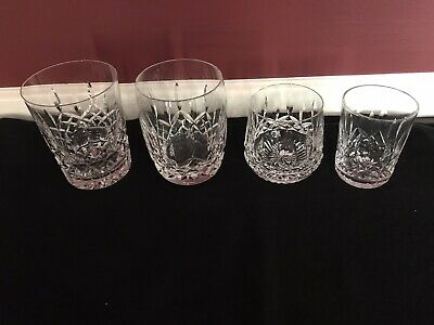 """Waterford Lismore 4 3/8"""" Double Old Fashioned Tumbler + 3 More Tumblers"""