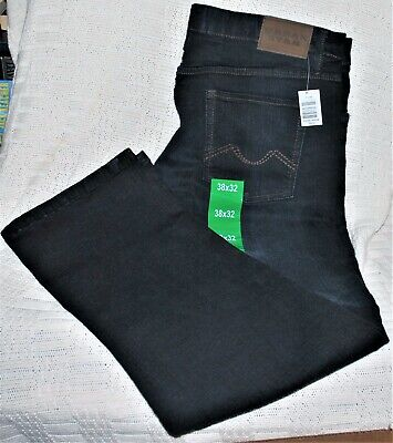 Urban Star men's jeans stretch relaxed fit straight leg - NAVY 38 x 32 NEW